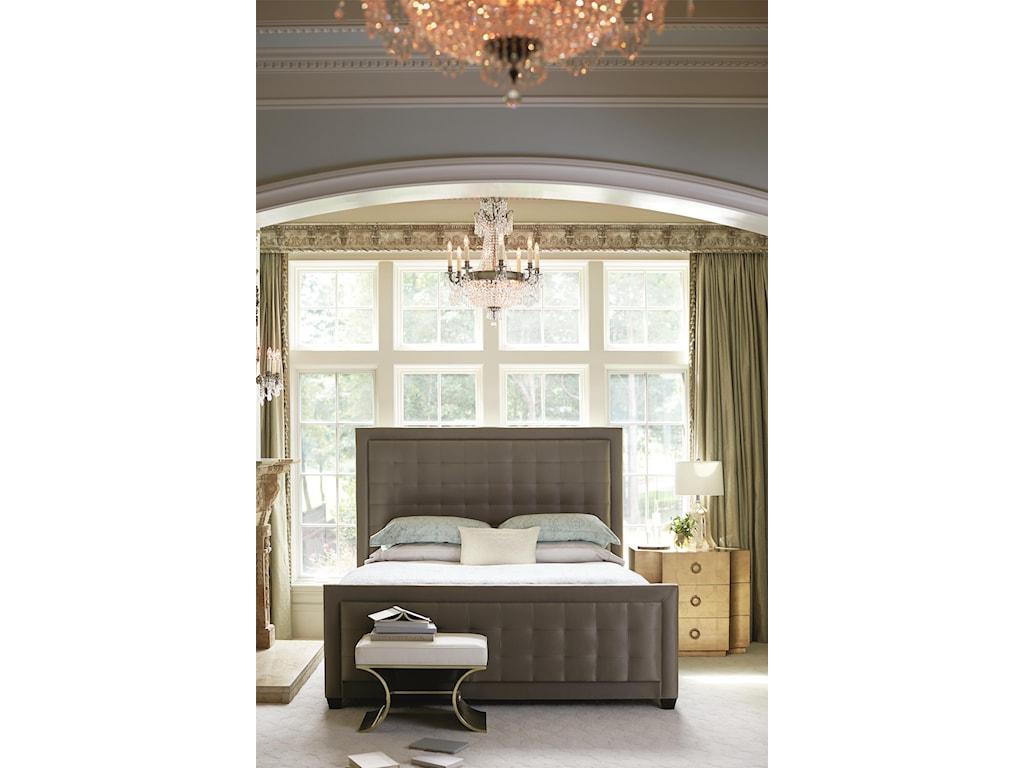 Bernhardt Jet SetQueen Upholstered Panel Bed