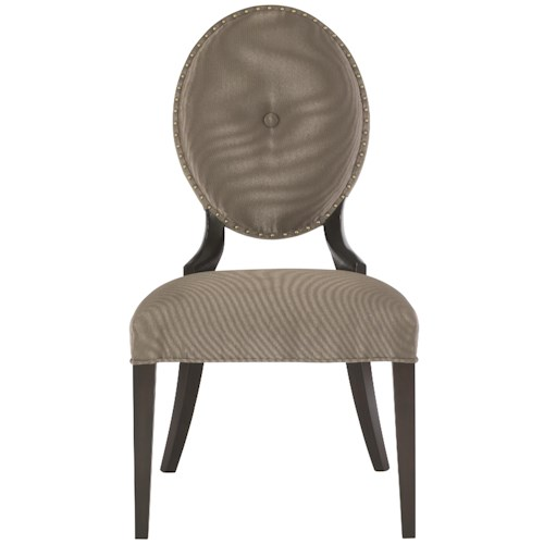 Bernhardt Jet Set <b>Customizable</b> Side Chair with Oval Upholstered Back