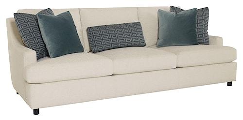 Bernhardt Josh  Sofa with Decorative Throw Pillows