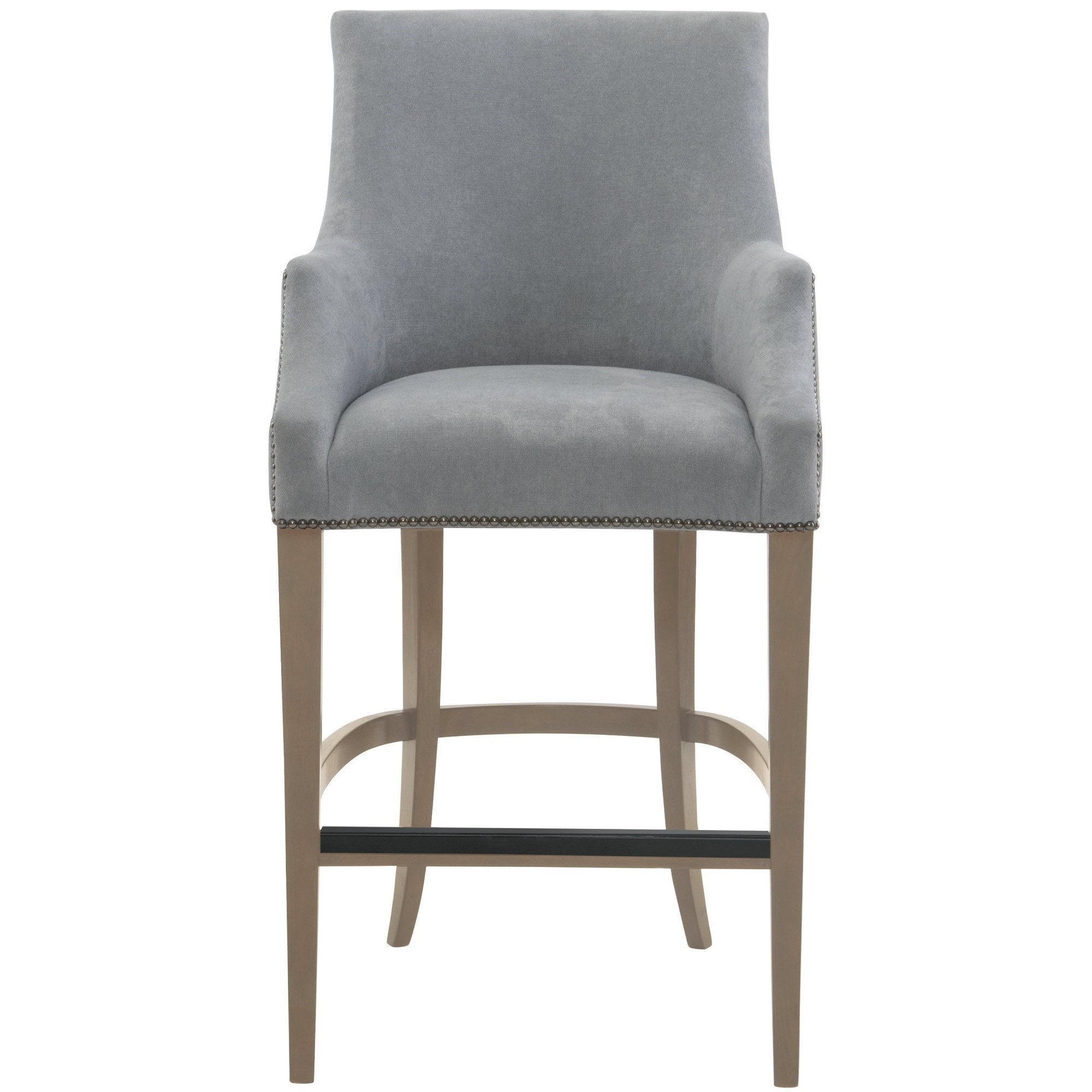 Keeley Upholstered Bar Stool With Nail Head Trim By Bernhardt
