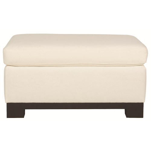 Bernhardt Lanai  Simply Styled Ottoman with Casual Furniture Trend