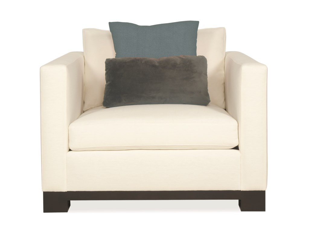 Interiors Lanai Modern Living Room Chair With High End Furniture Style By Bernhardt