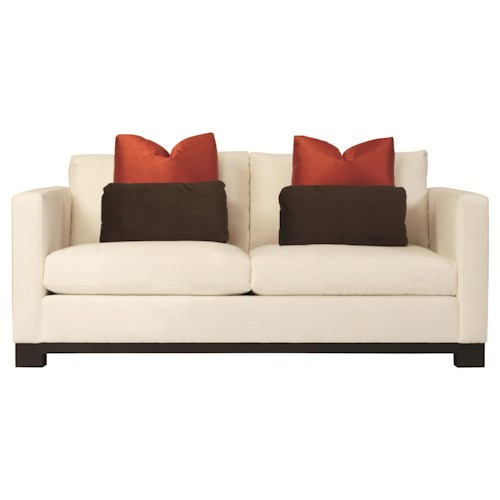 Bernhardt Lanai  Modern Upholstered Loveseat with Sleek and Sophisticated Style