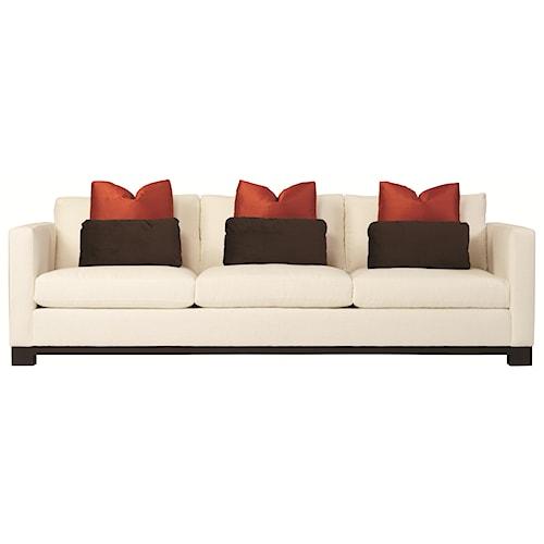 Bernhardt Lanai  Modern Styled Sofa with Slight Asian Influence in Standard Sofa Size