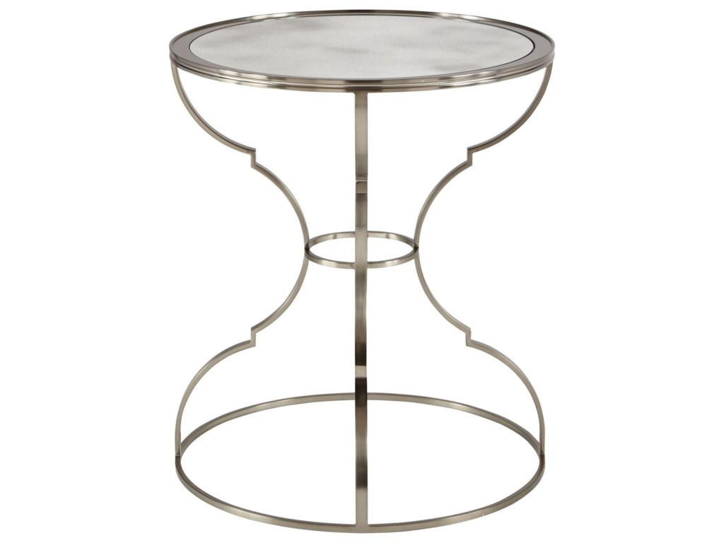 Bernhardt LaurelRound Metal End Table