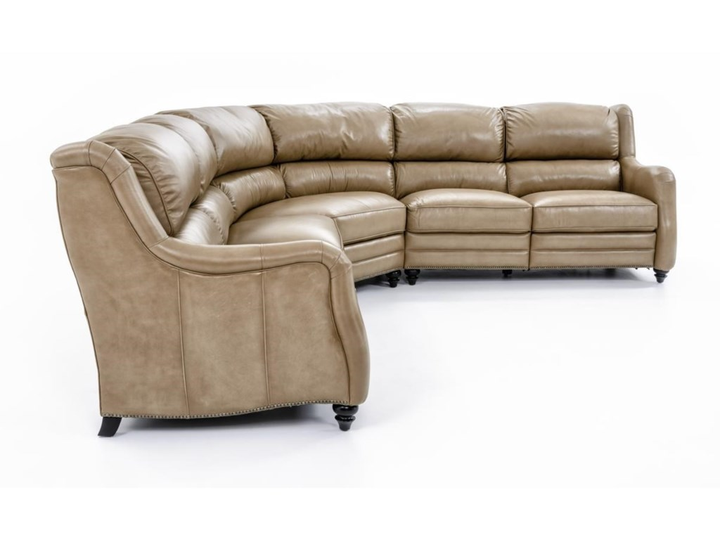 Bernhardt LawsonPower Motion Sectional with 5 Seats