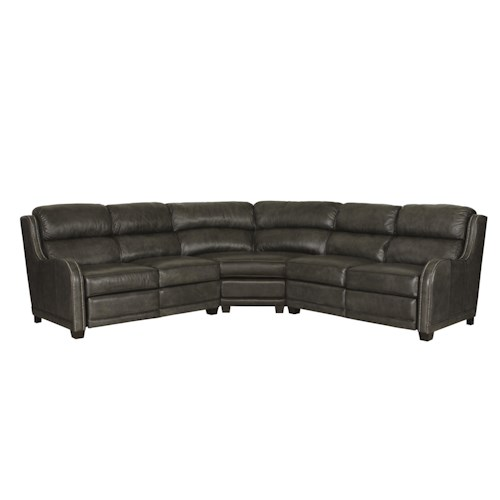 Bernhardt Lennox Power Reclining Sectional Sofa