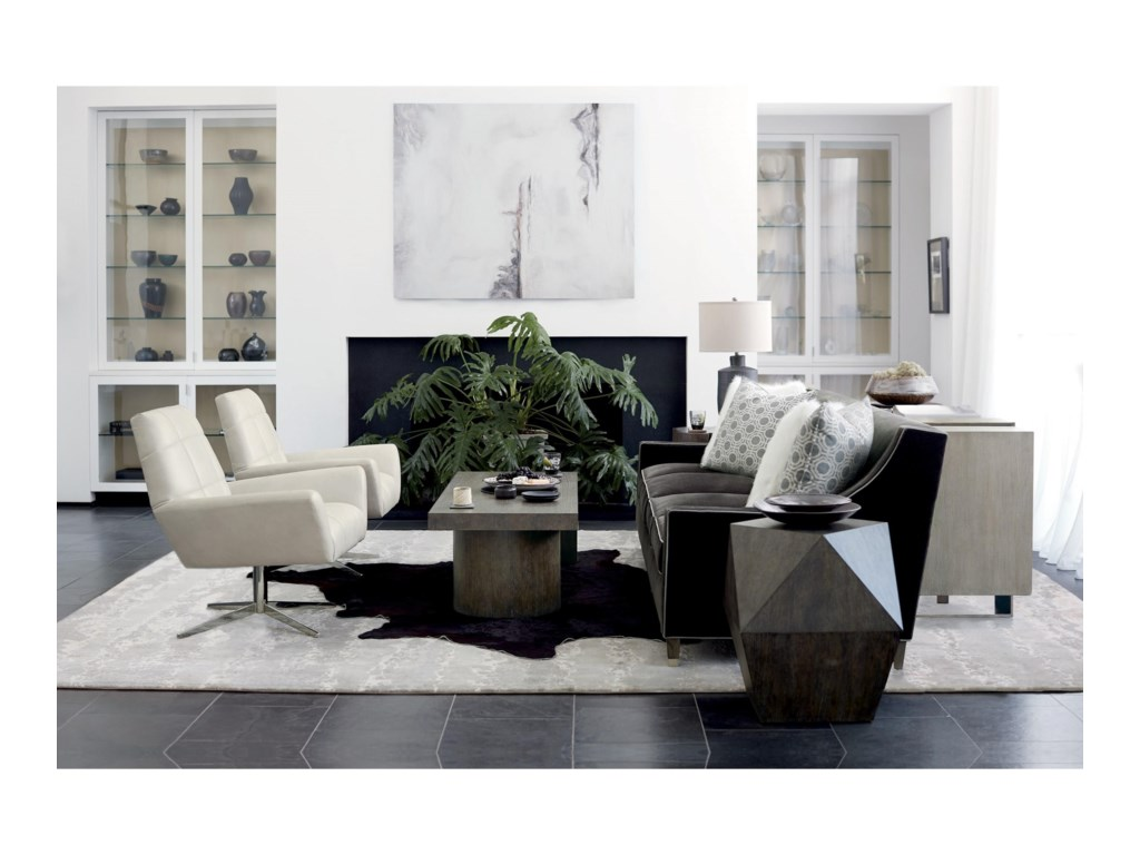 Bernhardt Linea Transitional Rectangular Cocktail Table With Pedestals Wayside Furniture Cocktail Coffee Tables