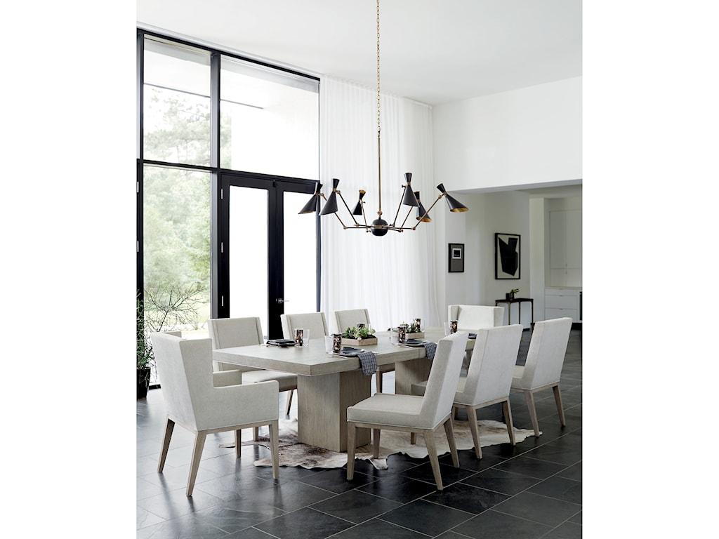 Bernhardt Linea9-Piece Table and Chair Set