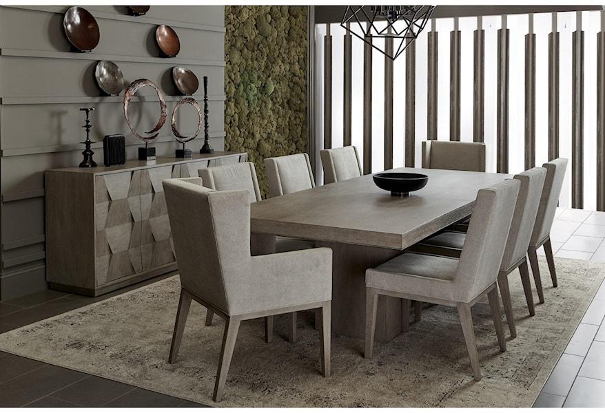 Bernhardt Linea Transitional Rectangular Dining Table With Leaf Belfort Furniture Dining Tables