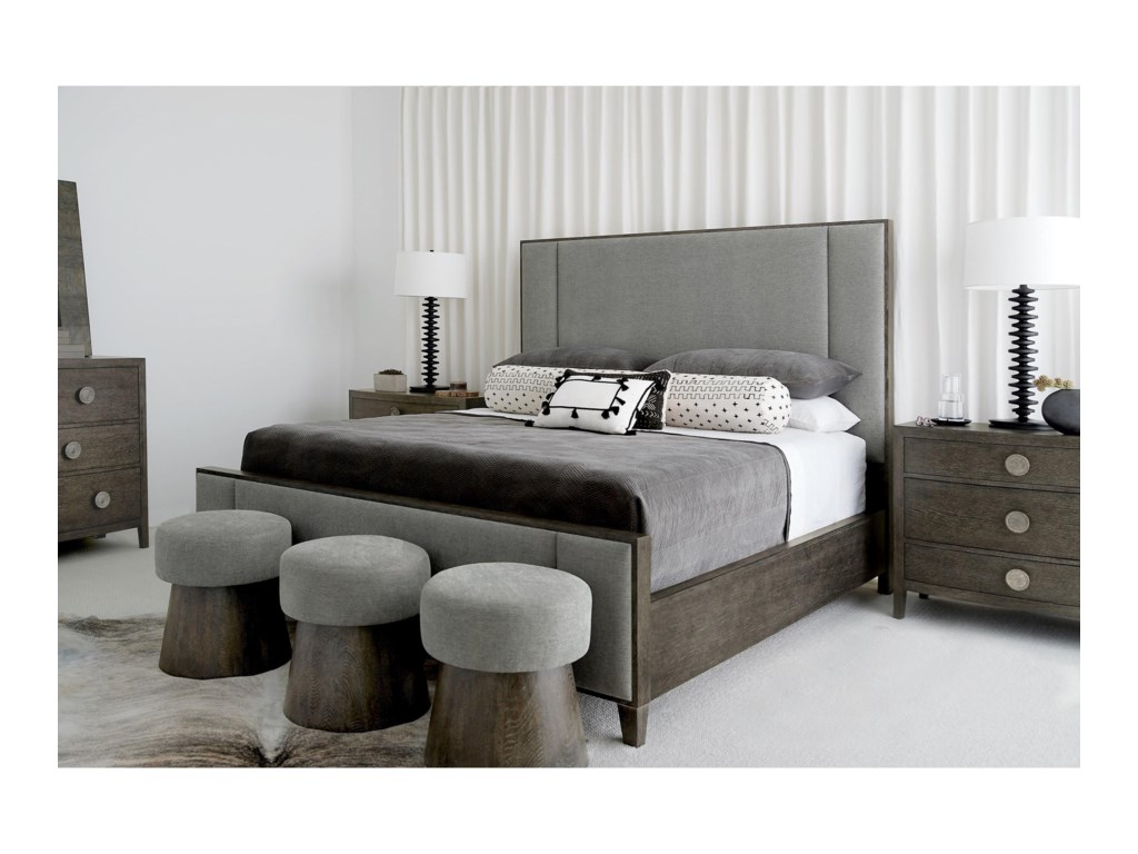 Bernhardt LineaCustomizable Queen Upholstered Panel Bed
