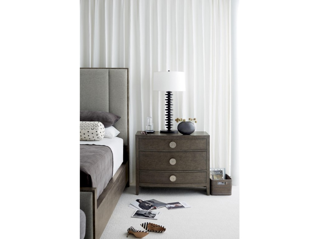 Bernhardt LineaCustomizable King Upholstered Panel Bed