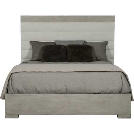 Queen Upholstered Channel Bed