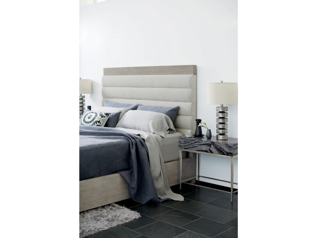 Bernhardt LineaKing Upholstered Channel Bed