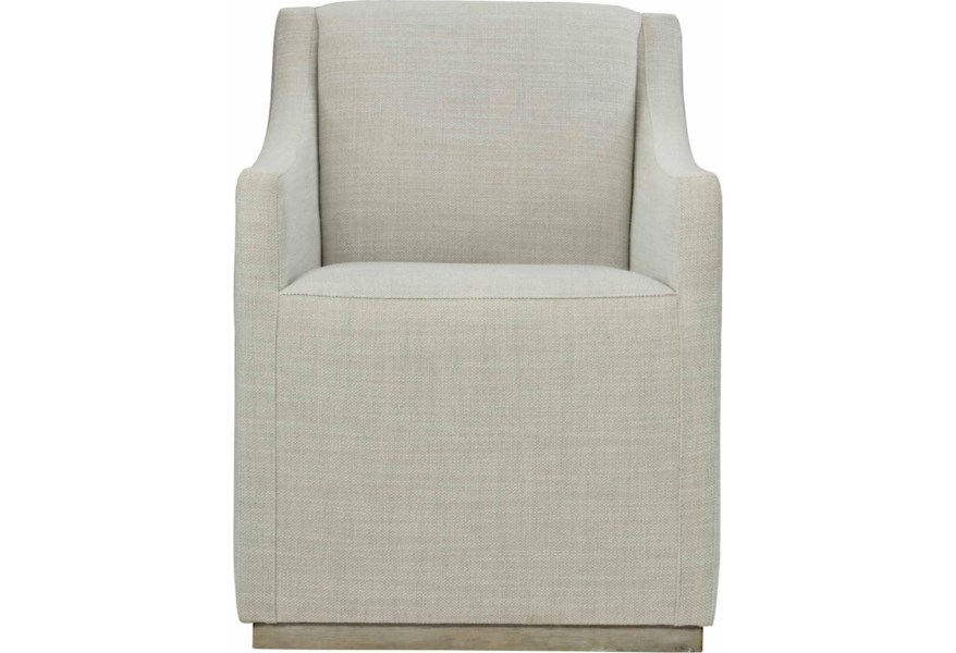 Bernhardt Loft Highland Park Casey Contemporary Upholstered Dining Arm Chair Belfort Furniture Dining Arm Chairs