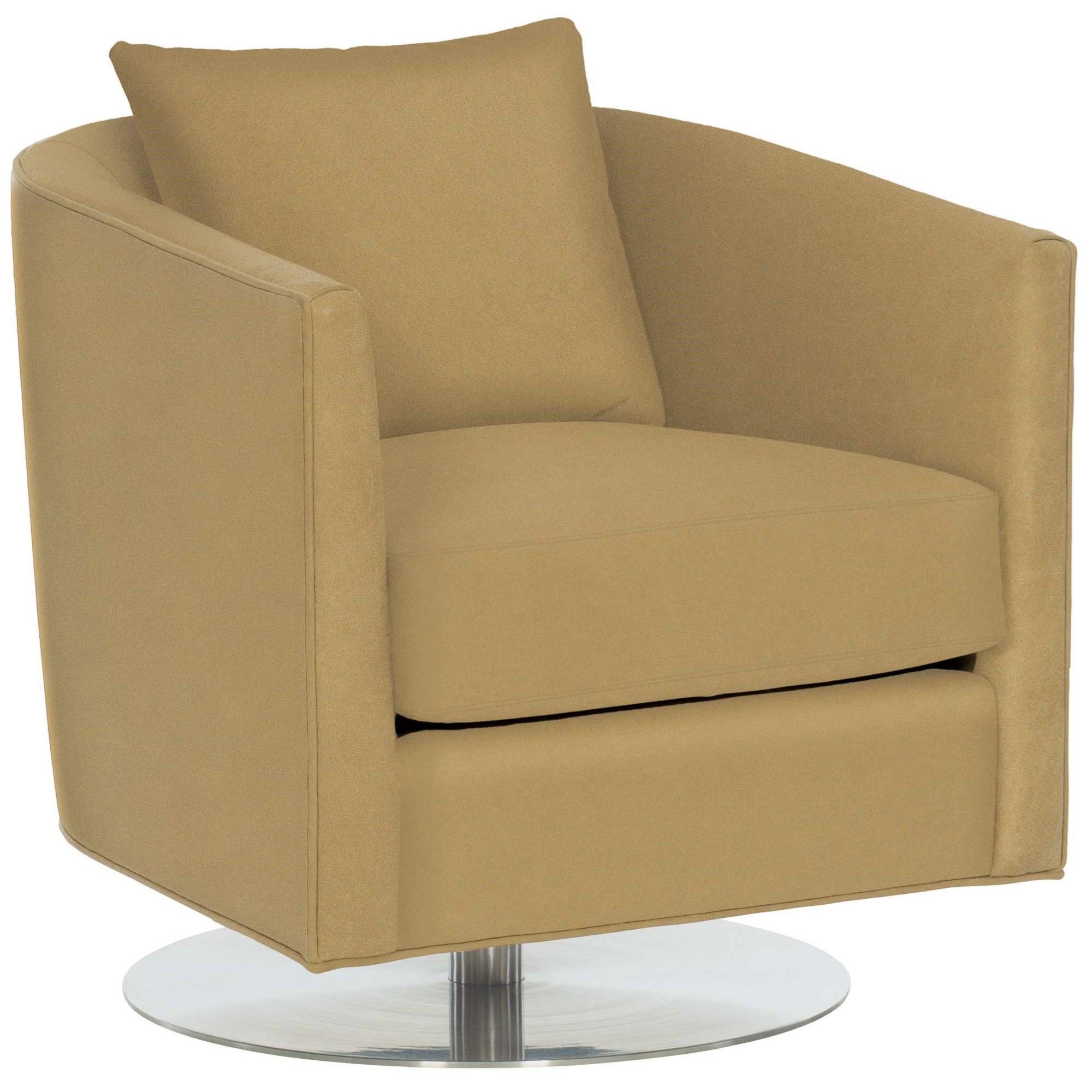 Bernhardt Malone Contemporary Swivel Barrel Chair
