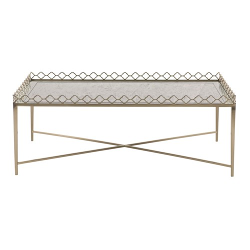 Bernhardt Marquesa Cocktail Table with Decorative Gallery Rail