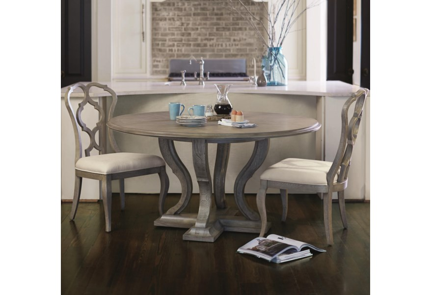 Marquesa 3 Piece Dining Set With Splat Back Chairs By Bernhardt At Dunk Bright Furniture