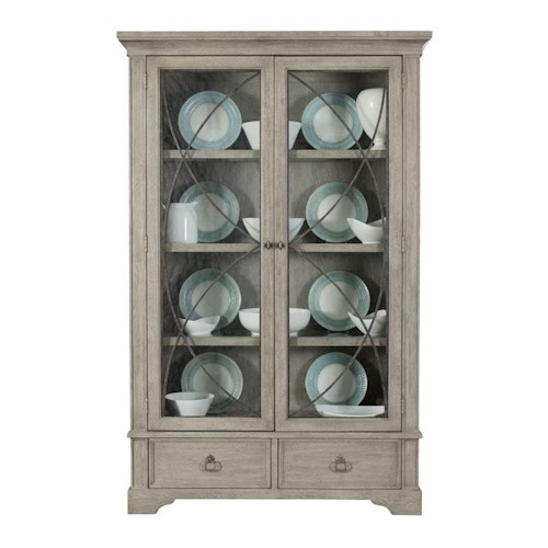 Bernhardt Marquesa Display Curio with 3 Shelves and Metal Grille