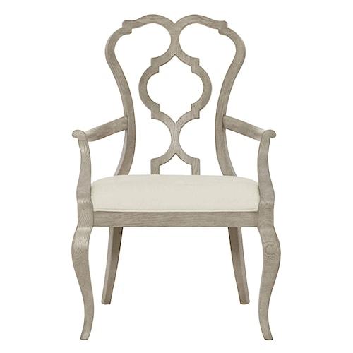 Bernhardt Marquesa Splat Back Arm Chair