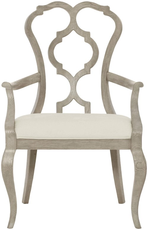 Bernhardt Marquesa Splat Back Arm Chair