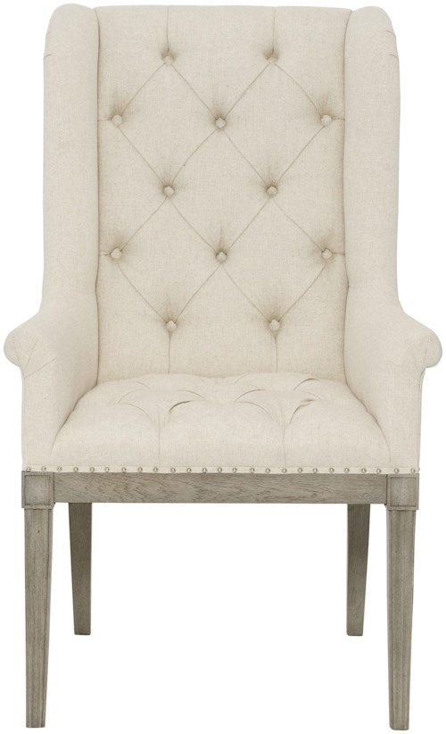 Bernhardt Marquesa Host Dining Chair with Rolled Arms
