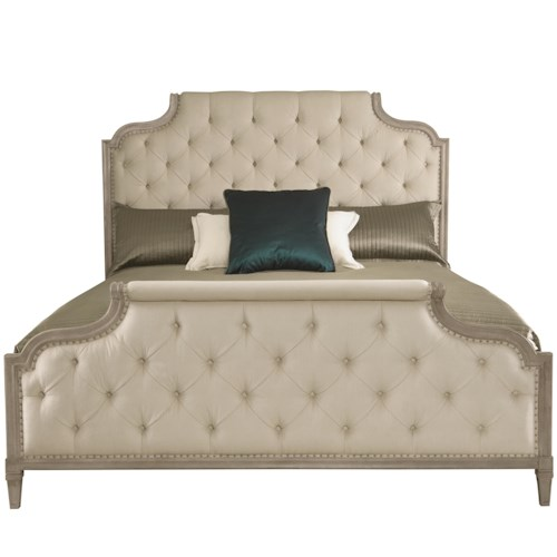 Bernhardt Marquesa King Customizable Upholstered Bed with Button Tufting