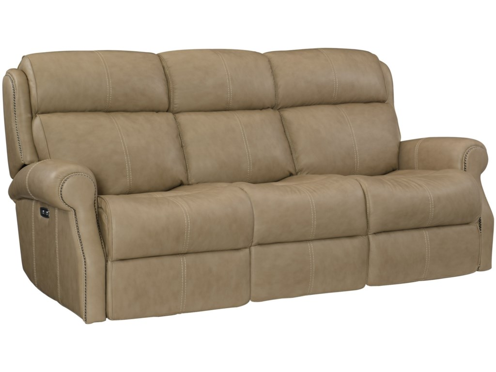 McGwire Leather Power Reclining Sofa with Power Tilt Headrests and USB  Charging Ports by Bernhardt at Baer\'s Furniture
