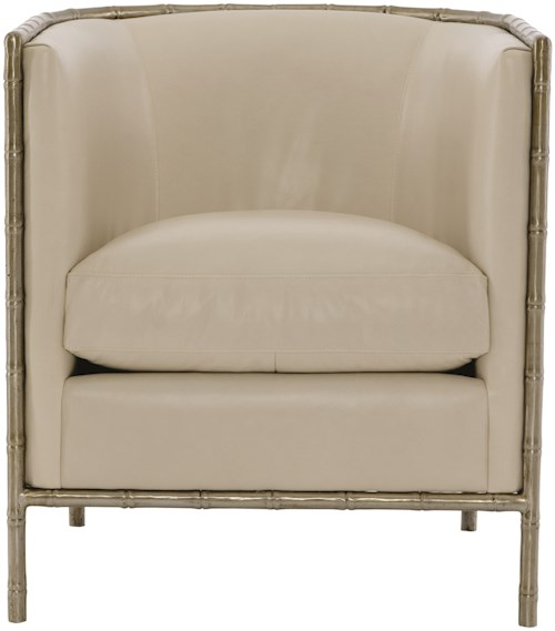 Bernhardt Meredith Chair with Metal Legs and Arms