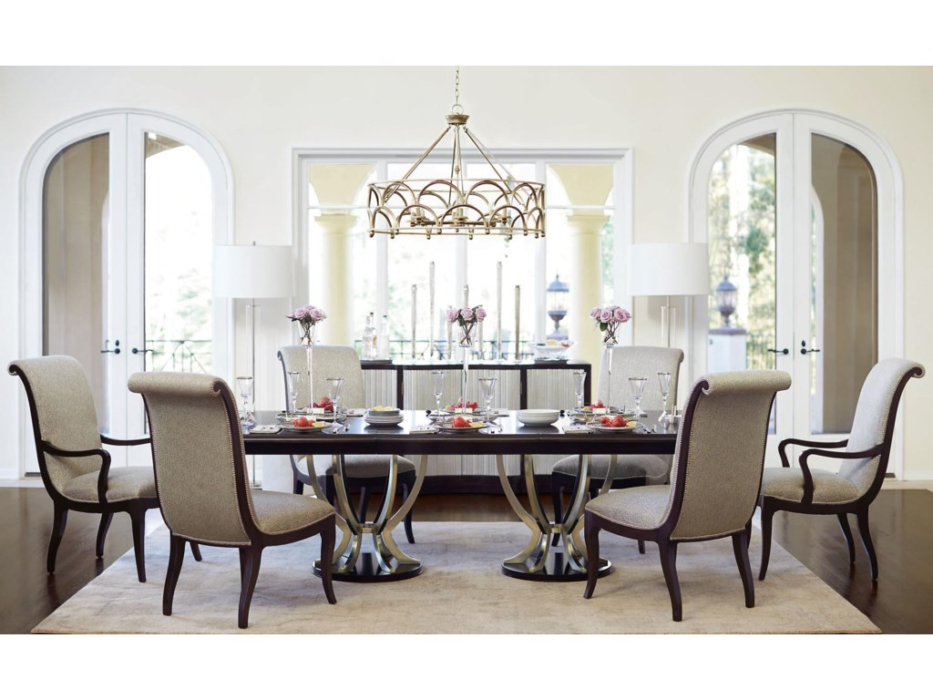 Bernhardt Miramont7 Piece Dining Table and Chair Set