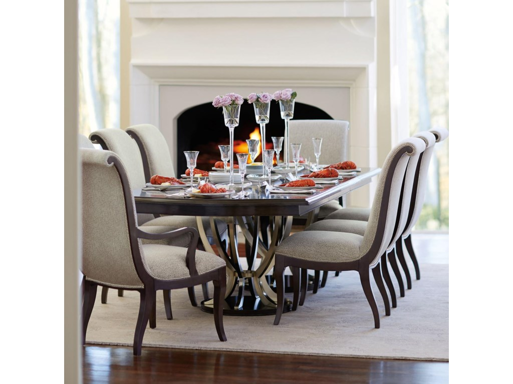 Bernhardt Miramont 9 Piece Dining Set with Double Pedestal Table ...