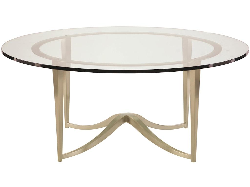 Bernhardt MiramontRound Metal Cocktail Table