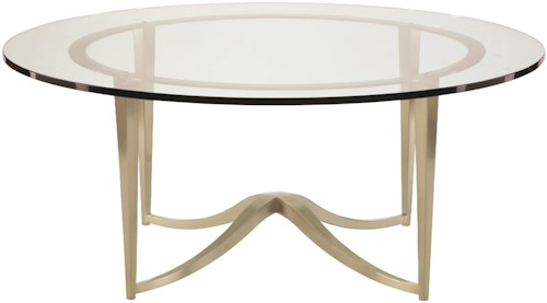 Bernhardt Miramont Round Metal Cocktail Table with Glass Top