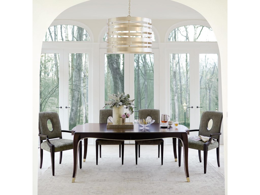 Bernhardt Miramont5 Piece Dining Table and Chair Set