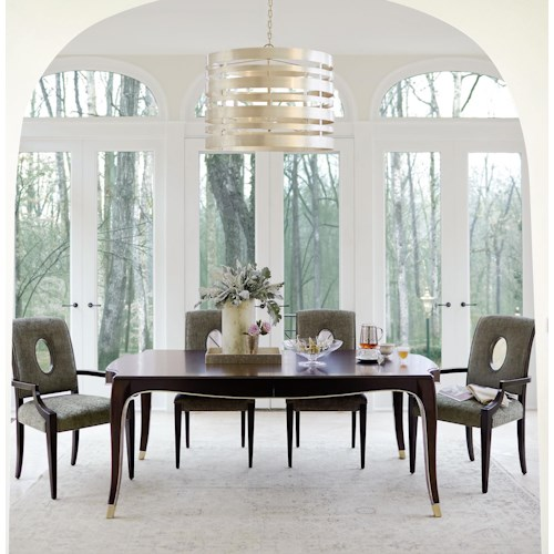Bernhardt Miramont 5 Piece Dining Table in Dark Sable Finish and ...