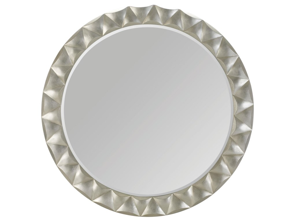 Bernhardt Miramont Round Mirror with Silver Sand Finished and ...