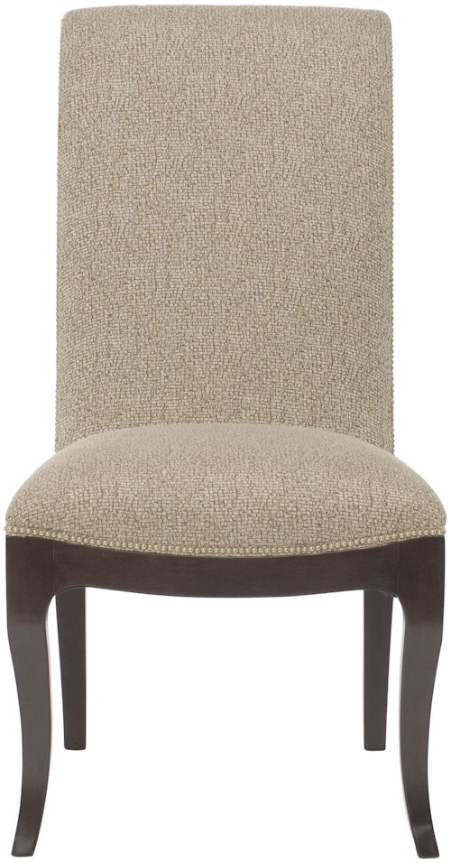 Bernhardt Miramont Upholstered Dining Side Chair with Nailhead Trim