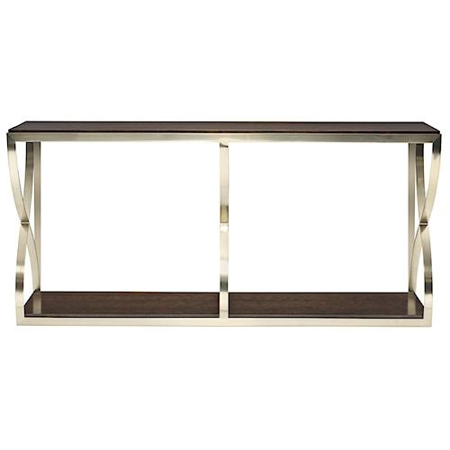 Bernhardt Miramont Console Table with X Pedestals
