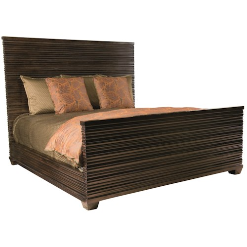 Bernhardt Miramont Queen Panel Bed in Dark Sable Finish