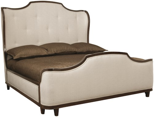 Bernhardt Miramont Queen Upholstered Sleigh Bed with Button Tufted Headboard