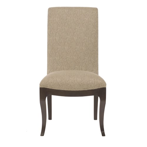 Bernhardt Miramont Customizable Upholstered Dining Side Chair with Nailhead Trim