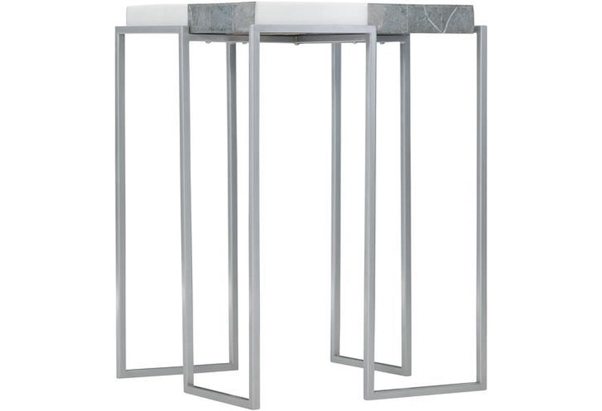 Bernhardt Exteriors Montana Contemporary Metal And Stone Side Table Sprintz Furniture Outdoor End Tables