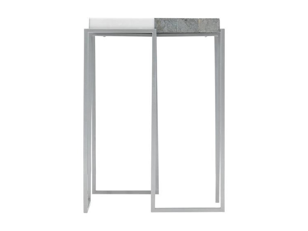 Bernhardt Exteriors Montana Contemporary Metal And Stone Side Table Howell Furniture Outdoor End Tables