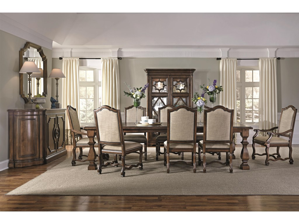 Bernhardt Montebella 350-221 Dining Table with Stacked Feet ...