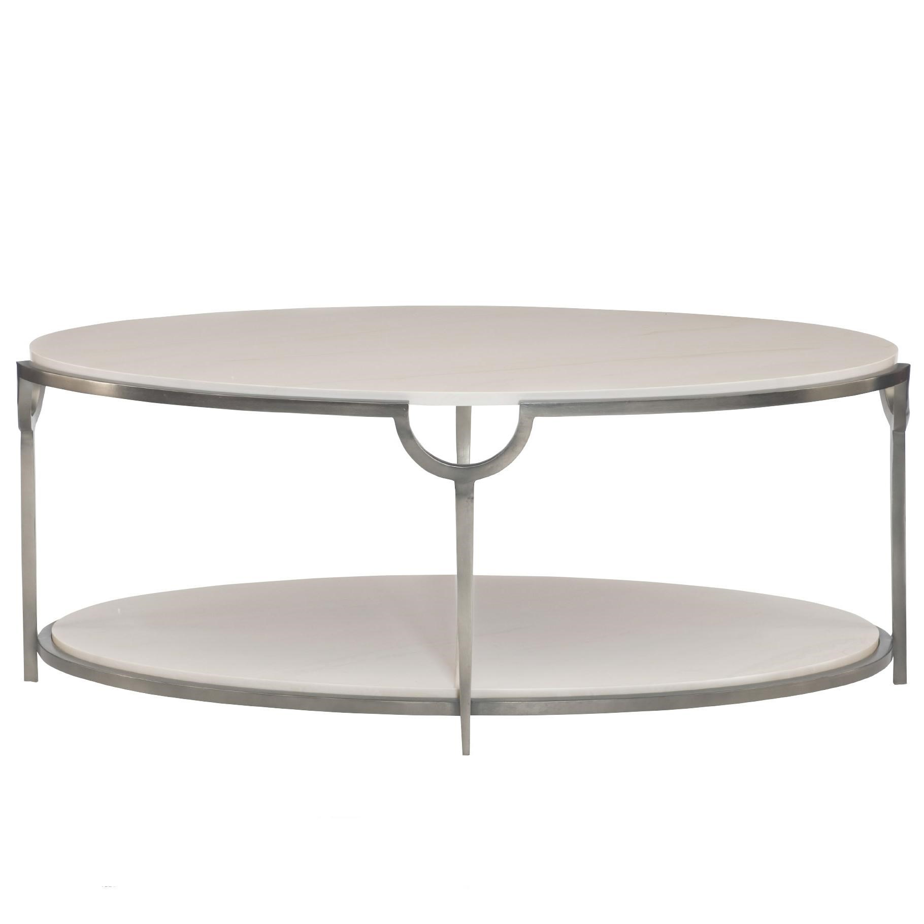 Genial Bernhardt MorelloOval Cocktail Table ...