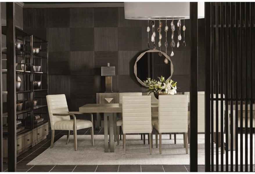 Bernhardt Mosaic 120 Dining Table And 8 Chair Set Belfort Furniture Dining 7 Or More Piece Sets