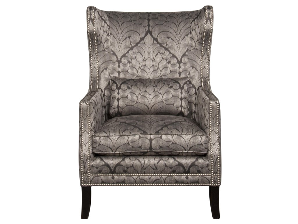 bernhardt kingston wing chair morris home upholstered chair
