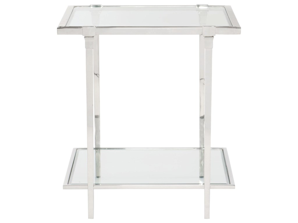 Bernhardt NapierMetal and Glass End Table