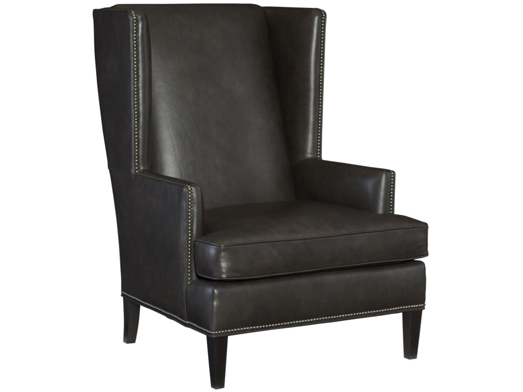 Bernhardt Nathan Transitional Wing Chair With Nailheads Howell