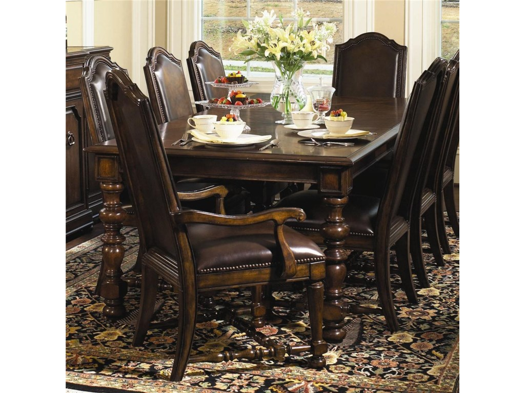 Shown With Upholstered Side Chairs and Upholstered Arm Chairs